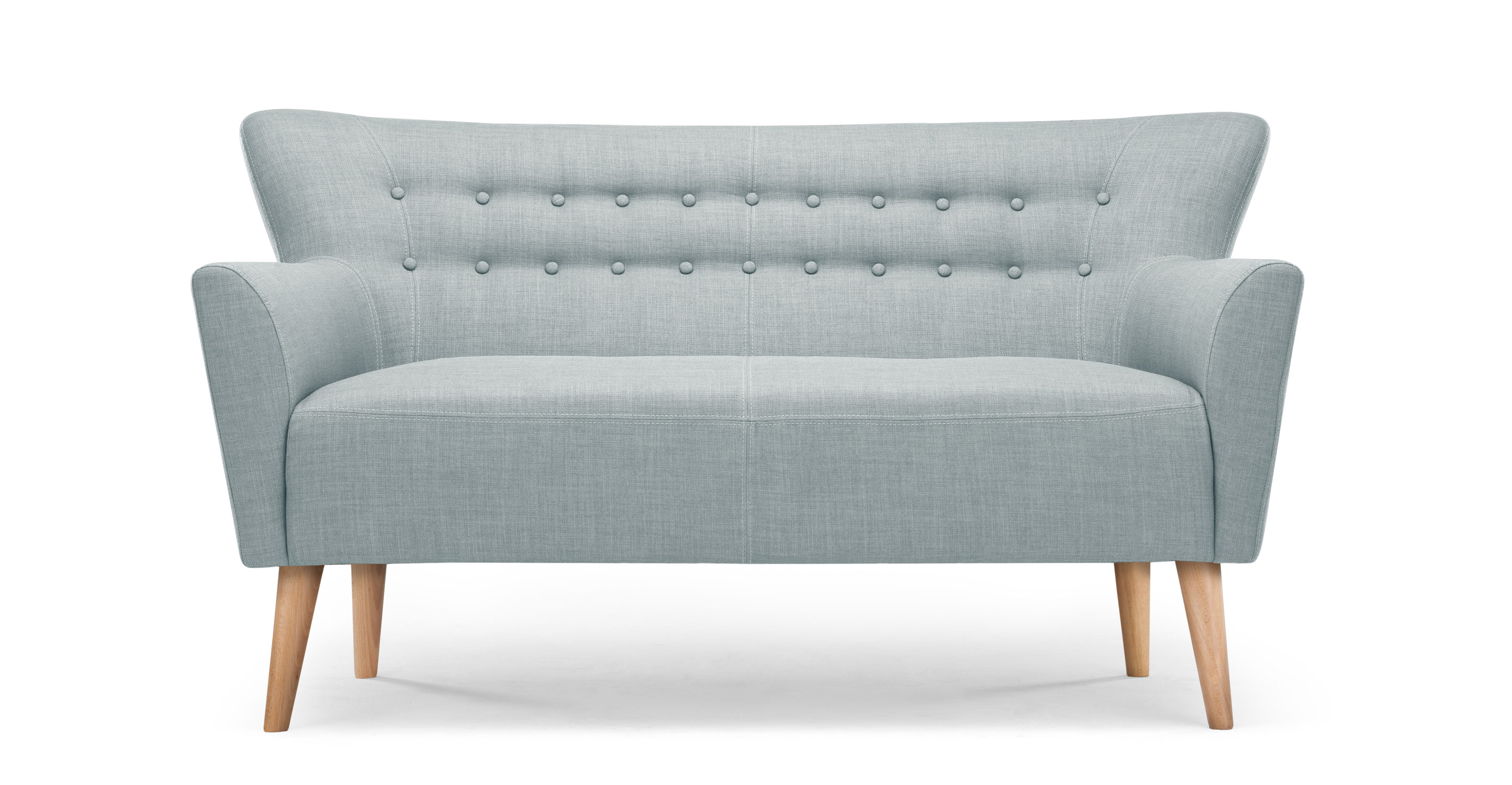 Quentin 2 sitzer sofa in eisblau for Sessel quentin