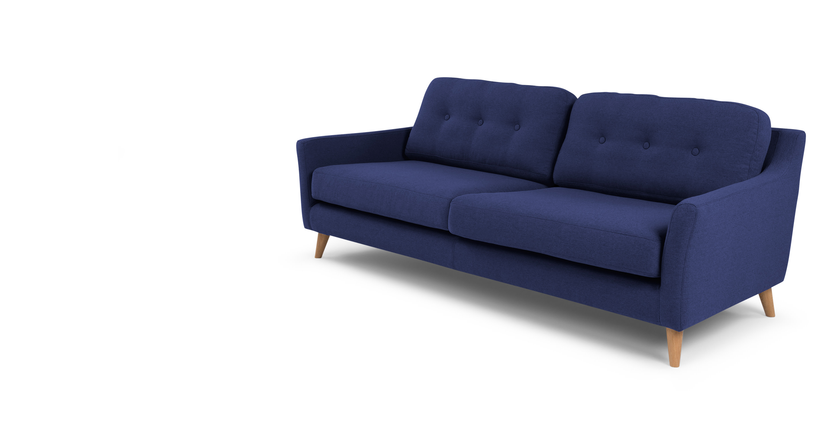 Rufus un canap 3 places bleu cobalt sombre - Canape made in design ...