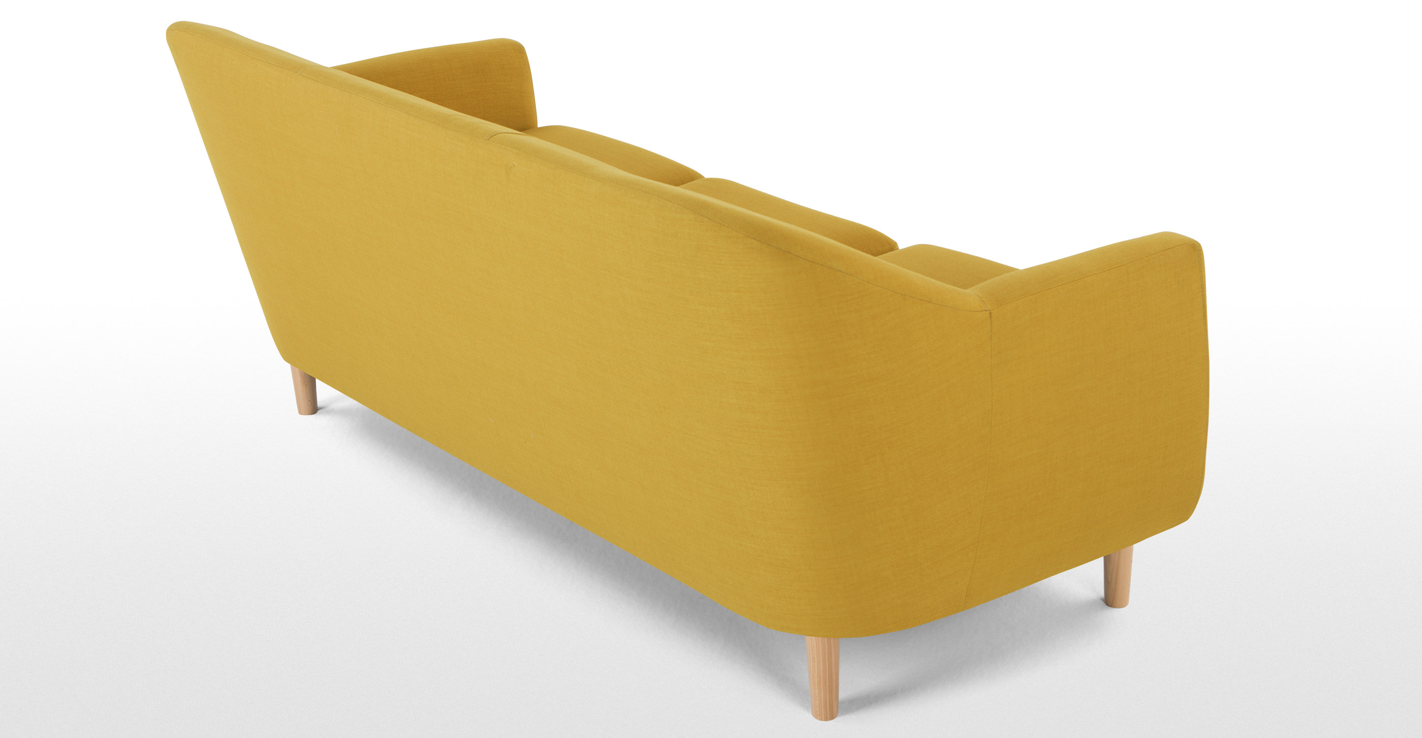 tubby canap 3 places jaune moutarde. Black Bedroom Furniture Sets. Home Design Ideas