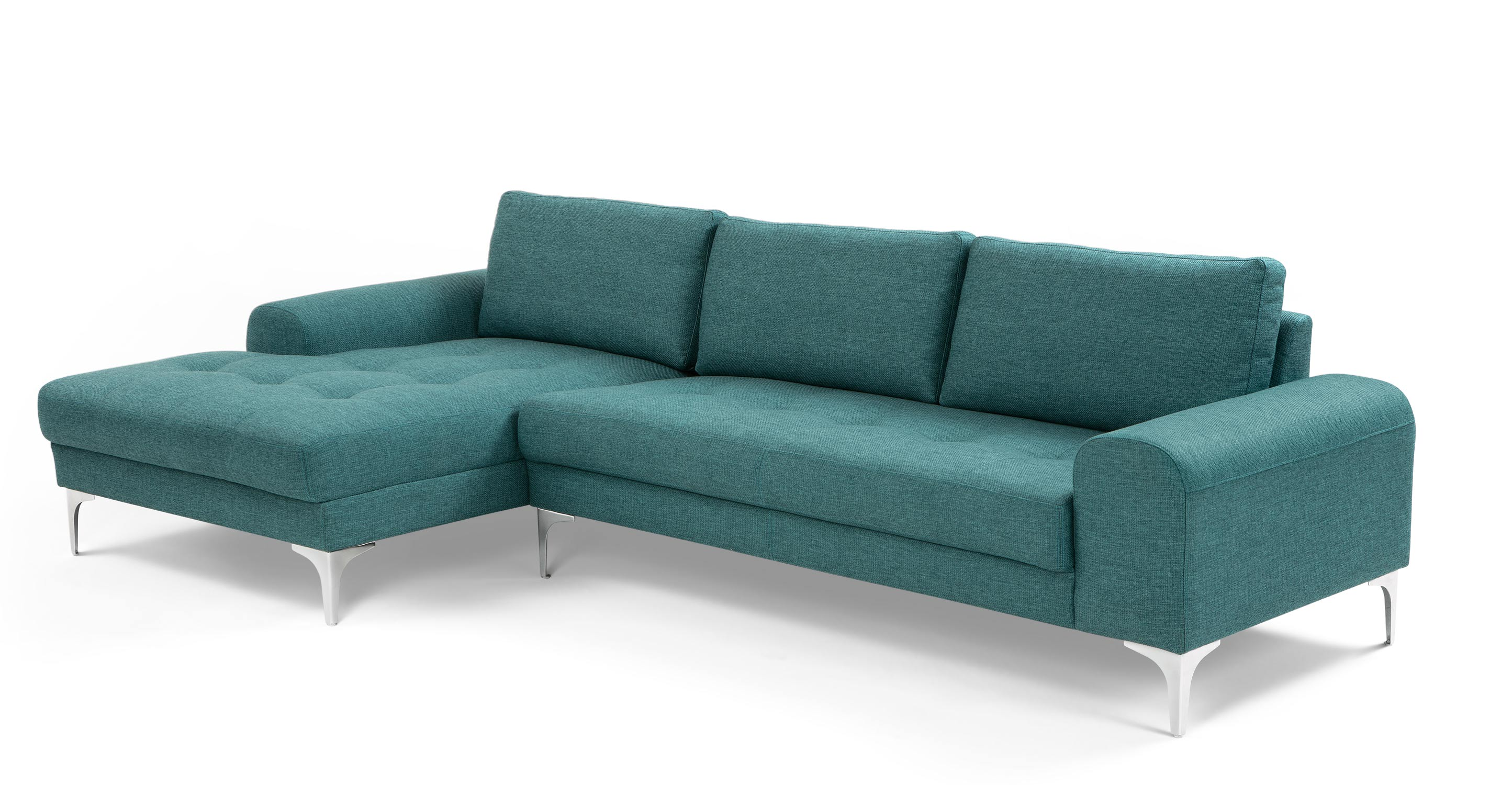 Vittorio Left Hand Facing Corner Sofa Group Teal