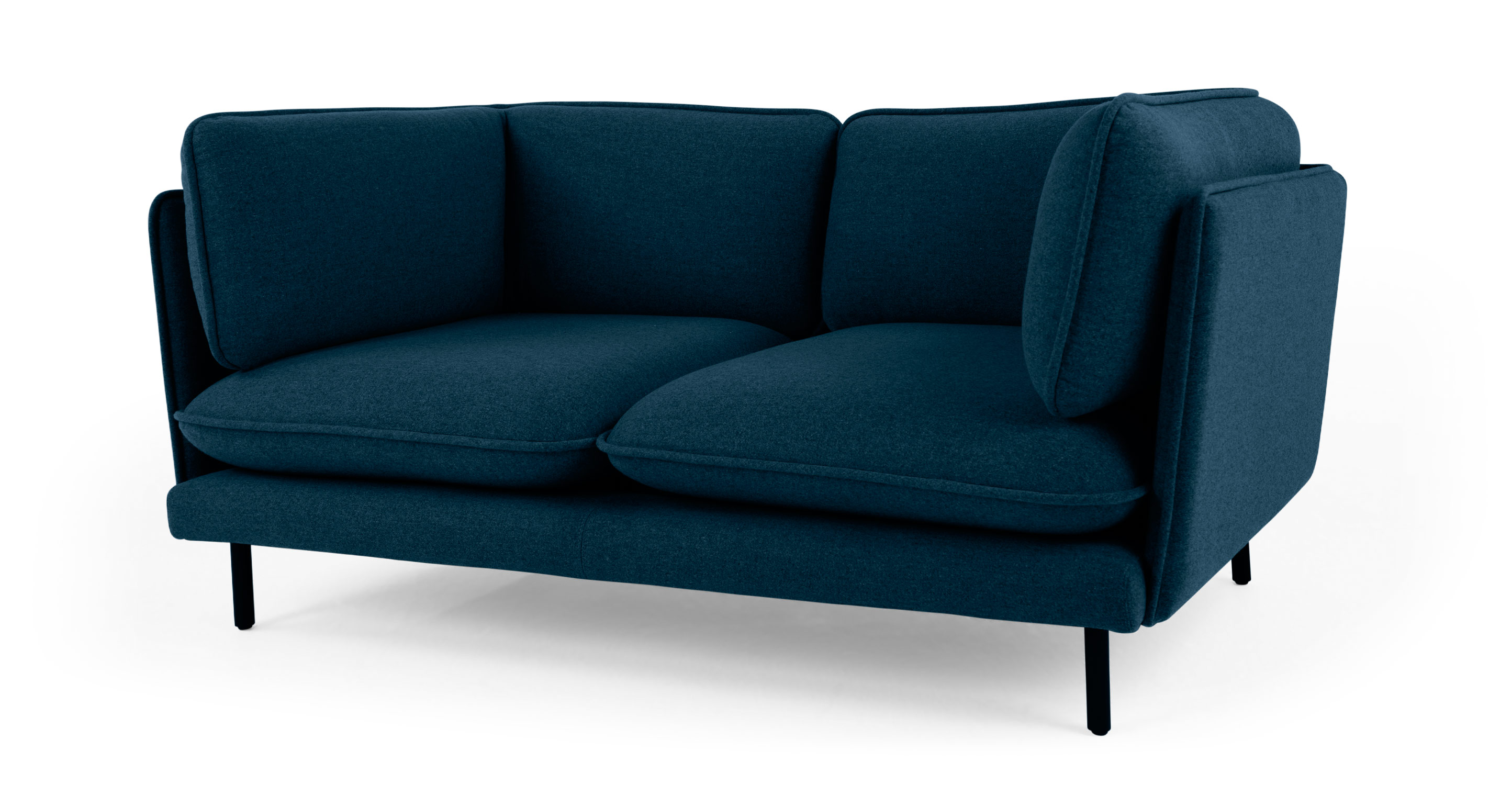 Wes 2 seater sofa petrol teal for Bedroom 2 seater sofa