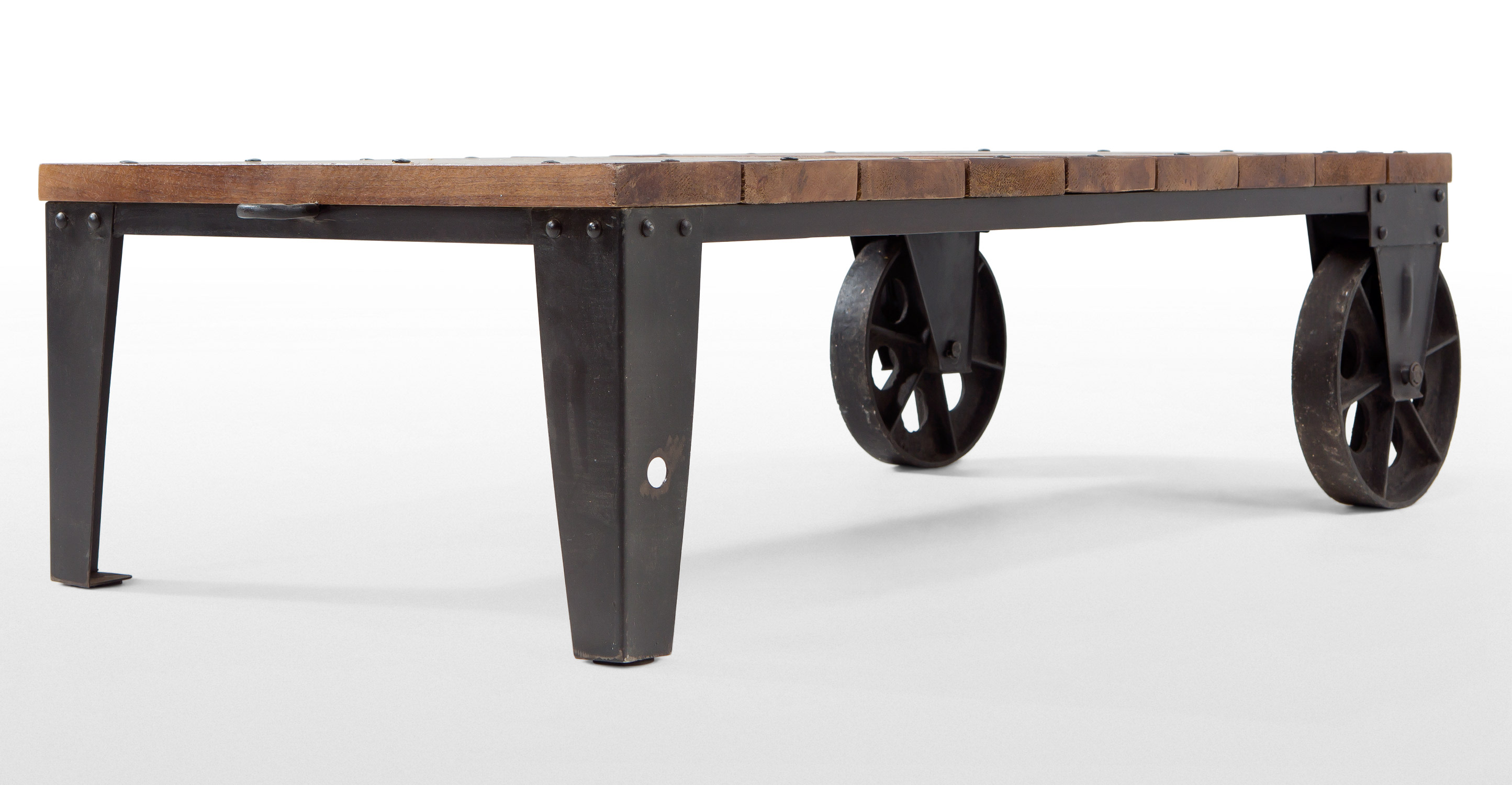 Humphrey industrial coffee table in gunmetal for Coffee tables industrial