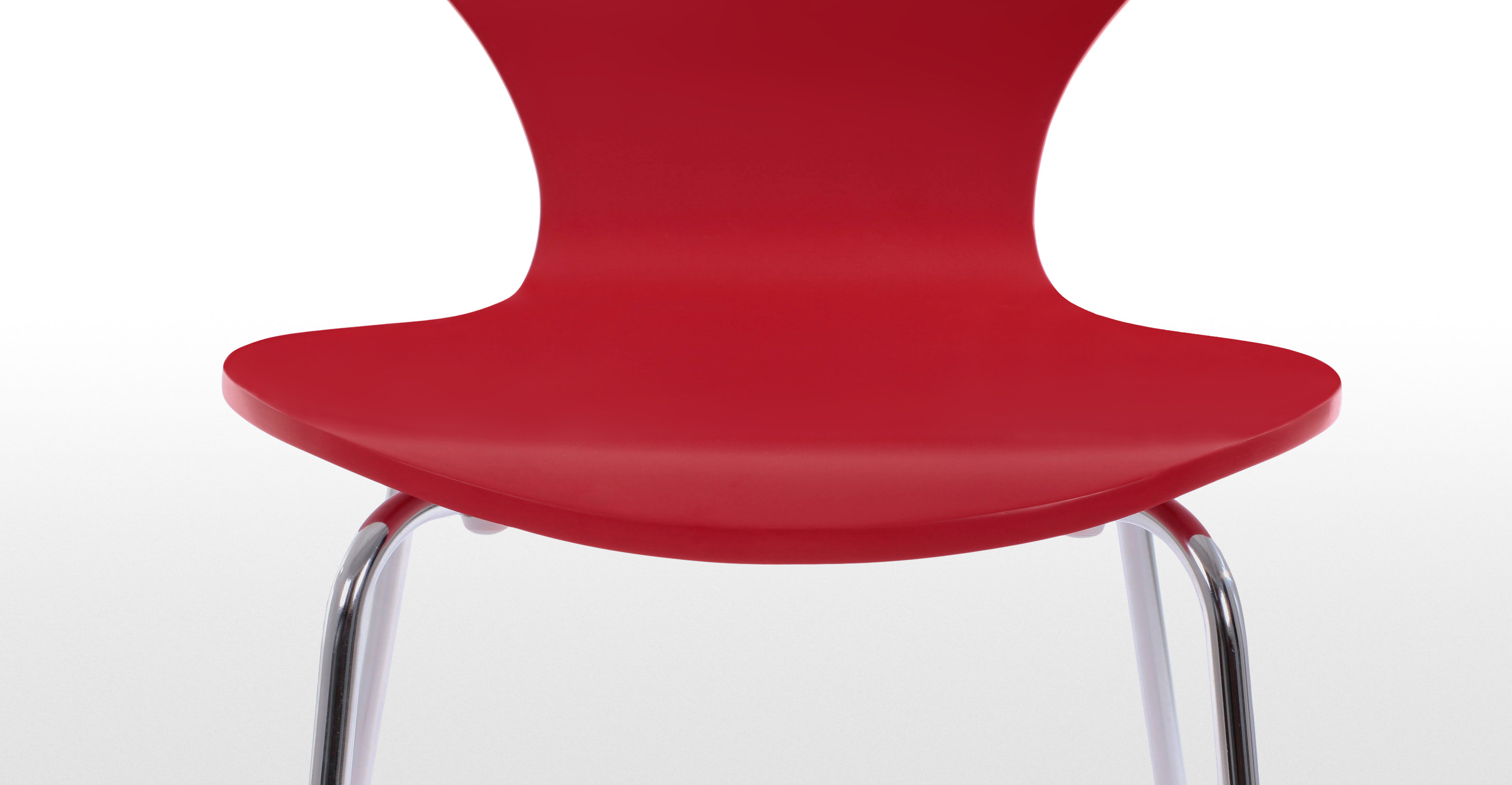 2 X Kitsch Scarlet Red Dining Chairs