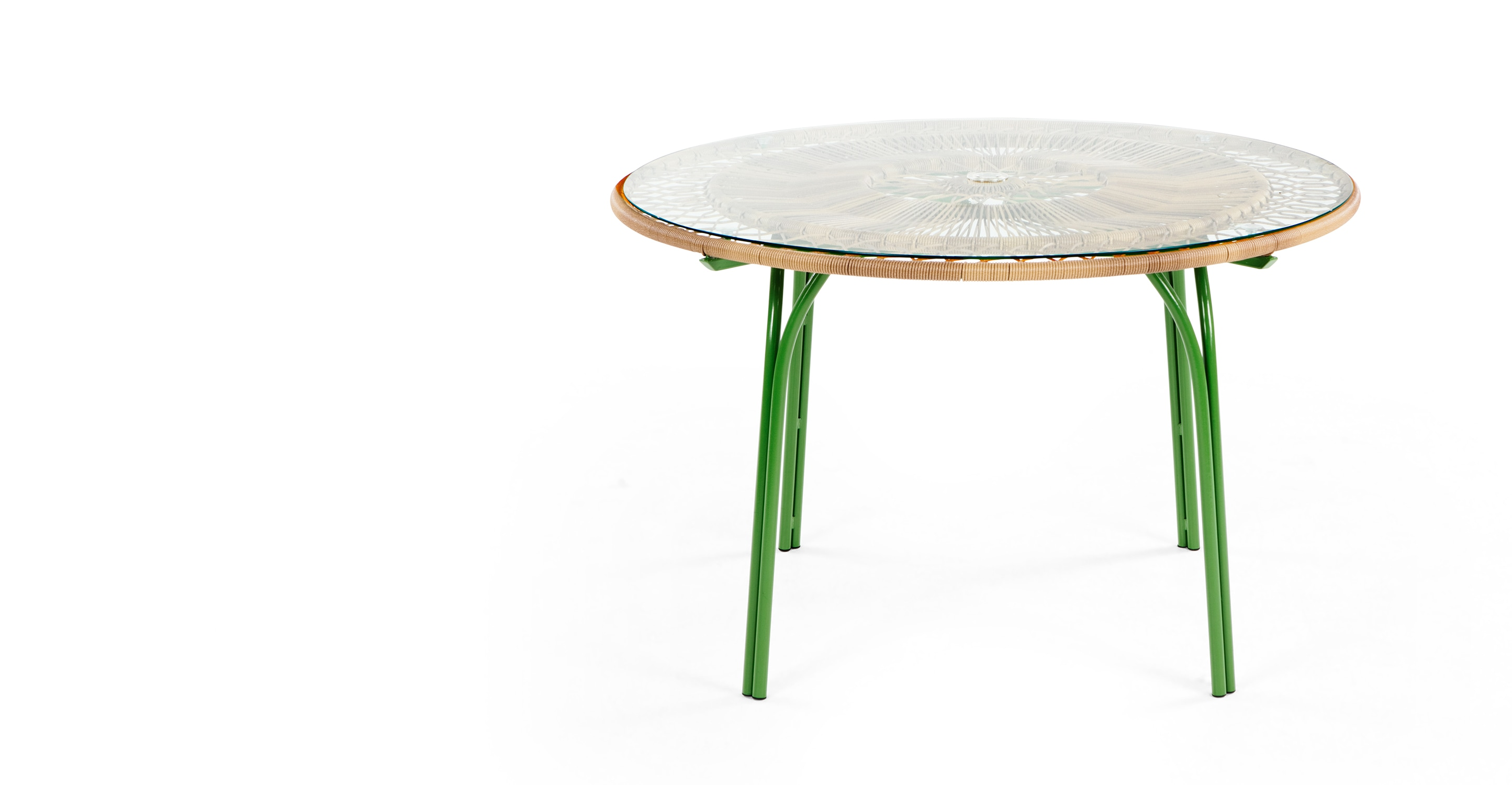 Lyra 6 Seater Dining Table Green