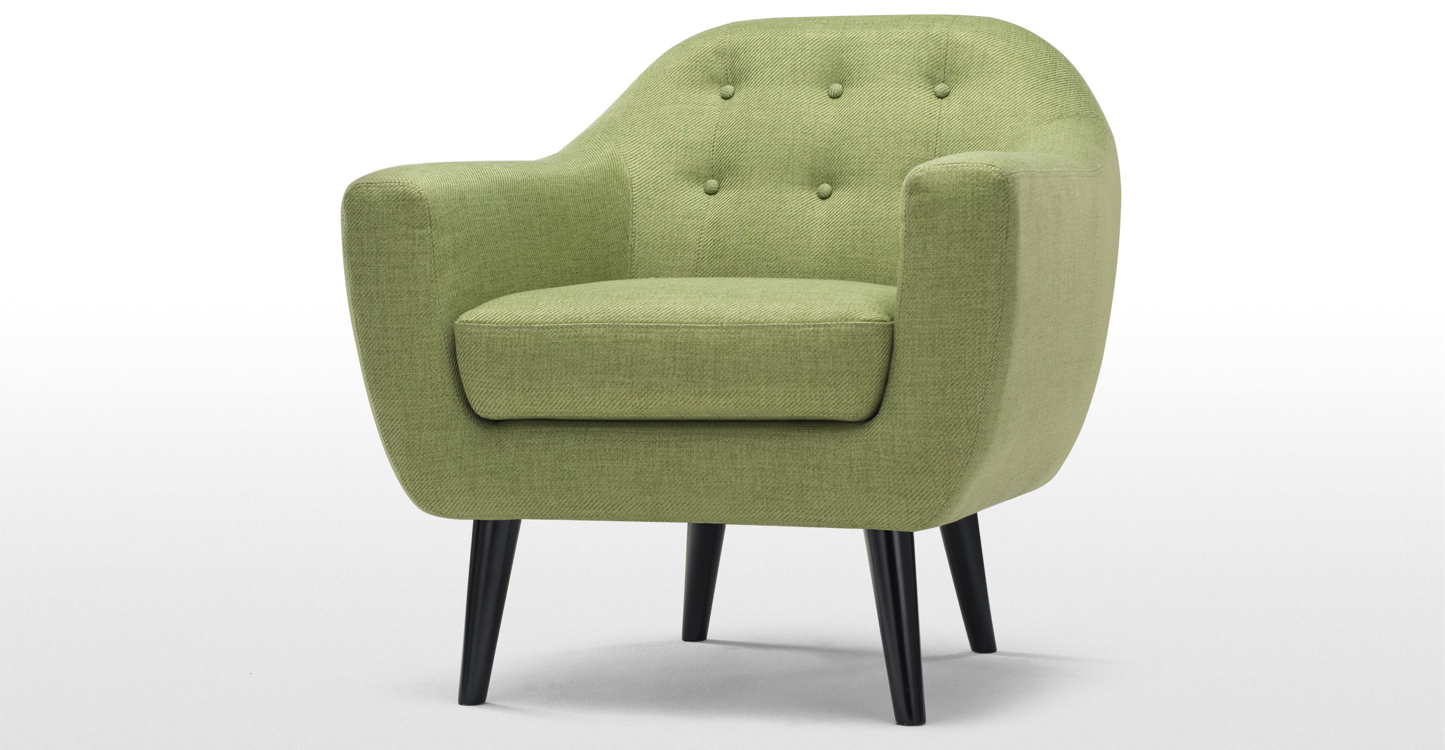 Ritchie armchair in lime green What are chairs made of