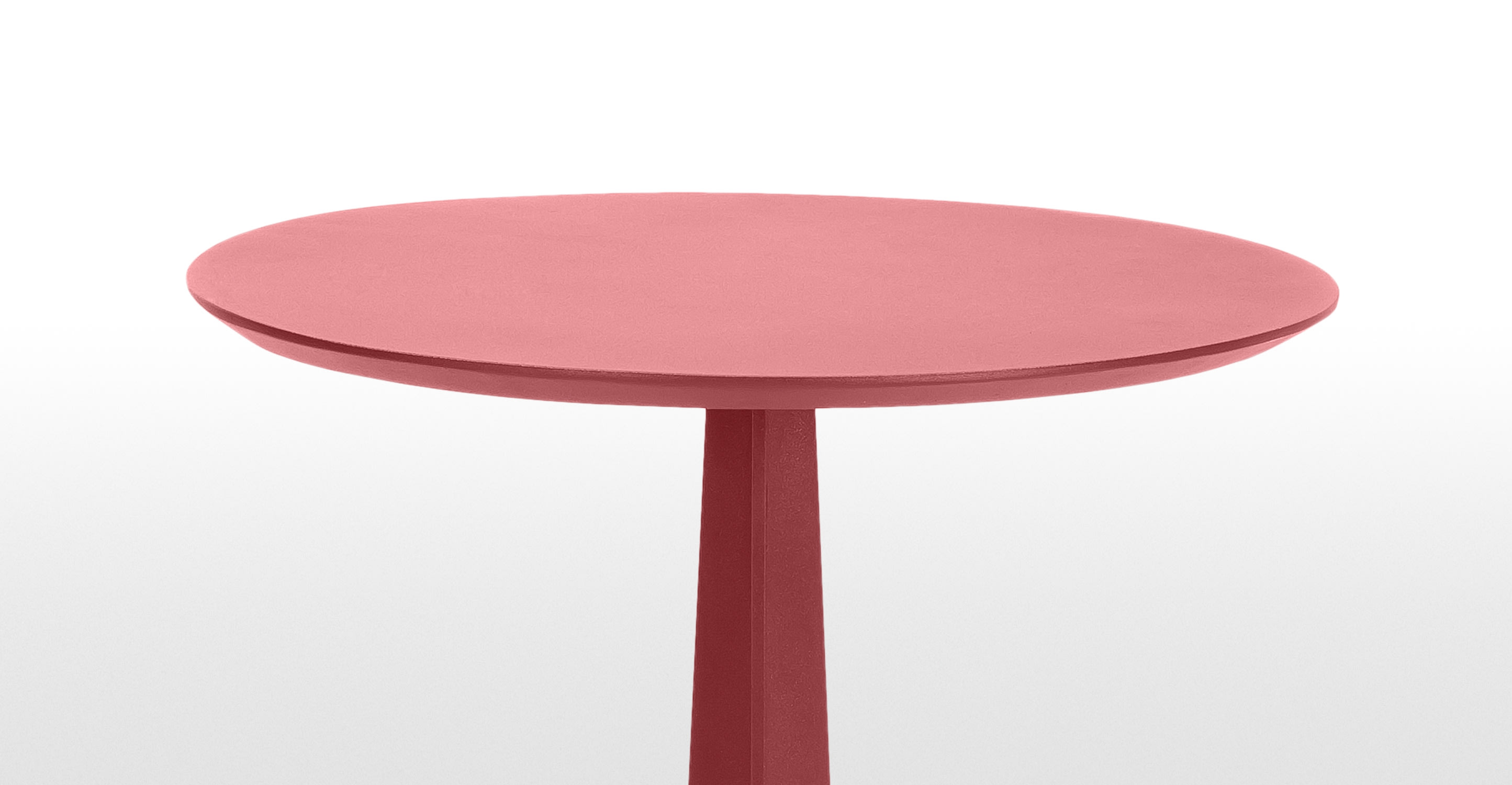 Tic tac side table in red for Red side table