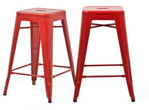 2 x Legend Café Barstools, Red