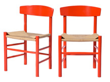 2 x Valder Dining Chairs, Scarlet Red