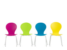 4 x Mini Kitsch Chairs, Multi