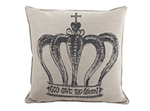 Relic Large Square Cushion 60 x 60cm, Crown