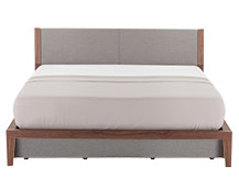 Lansdowne Kingsize Bed With Storage, Walnut and Heron Grey