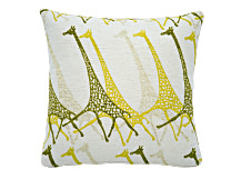 Savana Large Giraffe Print Scatter Cushion 50 x 50cm, Yellow