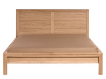 Ledger Double Bed, Oak
