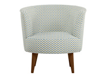Lulu Scoop Chair, Honeycomb Weave Cotton Mix