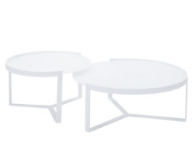 Aula Nesting Coffee Tables, White