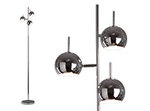 Austin Floor Lamp, Chrome