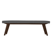 Aveiro Bench, Dark Stain Oak, Graphite Grey