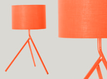 Axel Tripod Table Lamp, Orange