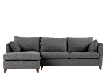 Bari Left Hand Facing Corner Storage Sofa Bed, Malva Graphite