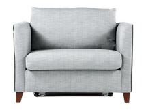 Bari Snuggler Sofa Bed, Malva Blue Grey