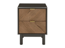 Belgrave Bedside Table, Dark Stained Oak