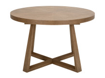 Belgrave Extending Dining Table, Dark Stained Oak