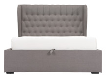 Bergerac Super Kingsize Bed with Storage, Graphite Grey