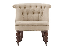 Bouji Chair, Biscuit Beige and Vintage Brown