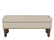 Bouji Ottoman, Biscuit Beige and Vintage Brown