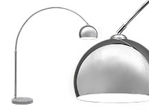 Large Bow Lamp, Chrome