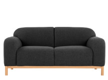 Brady 2 Seater Sofa, Kestrel Grey Wool Mix