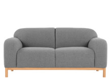 Brady 2 Seater Sofa, Whisper Grey Wool Mix
