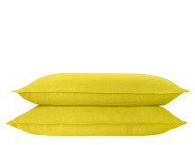Brisa 2 x 100% Soft Washed Linen Pillowcases, Chartreuse