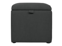 Capri Upholstered Storage Box, Blacksmith Grey