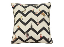 Character Chevron Cushion 45 x 45cm, Monochrome