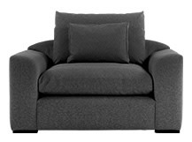 Christian Loveseat, Charcoal Weave