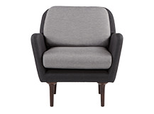 Clarke Armchair, Carbon Grey and Silver Pearl