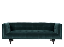 Connor 3 Seater Sofa, Petrol Cotton Velvet