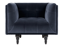 Connor Armchair, Navy Cotton Velvet