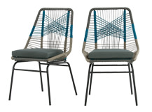 2 x Copa Outdoor Dining Chairs, Cool Blue