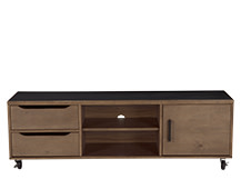 Depot Media Unit, Dark Stain Pine Wood
