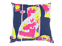Spaniel Square Scatter Cushion 45 x 45cm, Admiral Blue