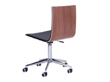 Dolly Office Chair, Walnut and Black