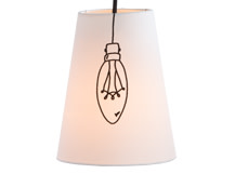 Ed Pendant Shade, Candle Bulb, Off White