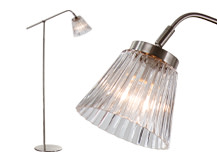Edie Floor Lamp, Brushed Steel