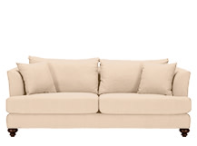 Elliott 3 Seater Sofa, Parchment Beige Cotton Mix