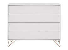 Elona chest of drawers, grey and copper