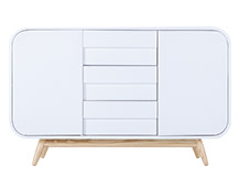 Esme Sideboard, Ash and White