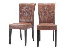 2 x Flynn Dining Chairs, Chestnut