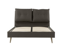 Freya double bed, Graphic grey